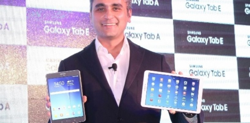 Samsung brings 4G Galaxy Tab A to India at Rs. 20,500; Tab E to cost Rs. 16,900
