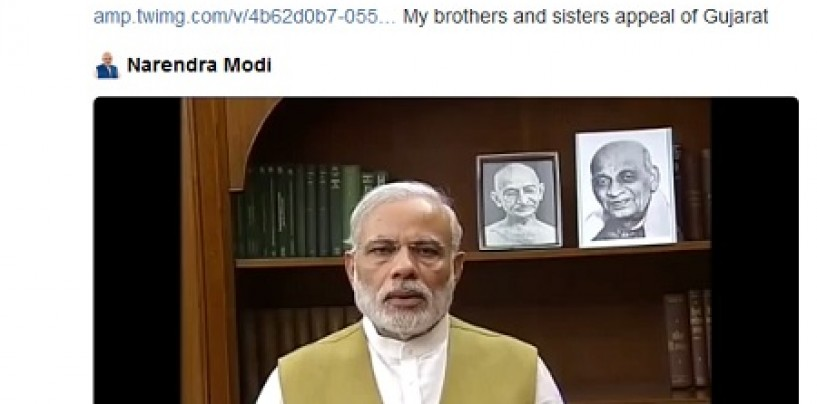PM Modi takes the video route to appeal for calm in Gujarat