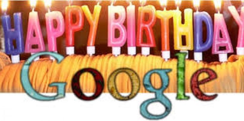 Happy 18th birthday Google