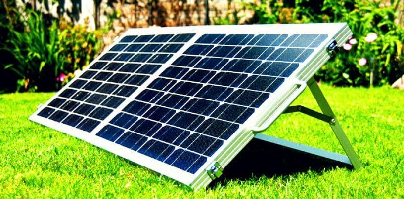 Portable Solar Panels on a Spool