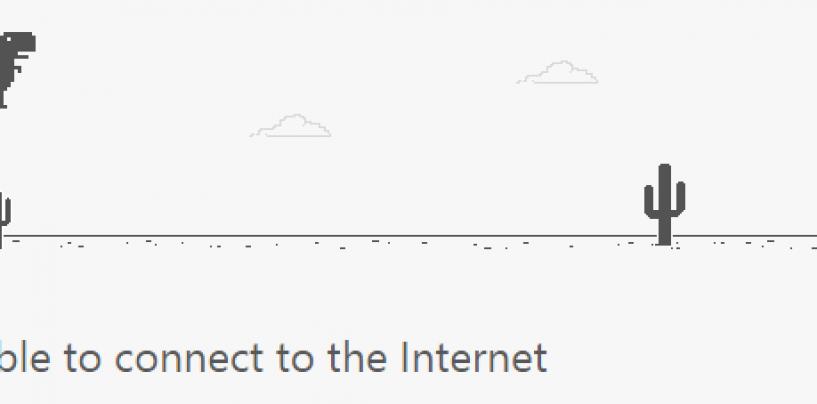 Google Chrome's hidden dinosaur game