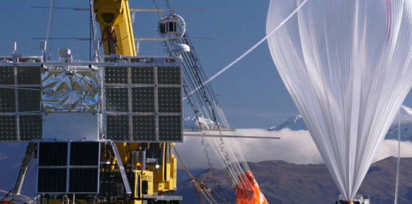 NASA successfully launched a super pressure balloon