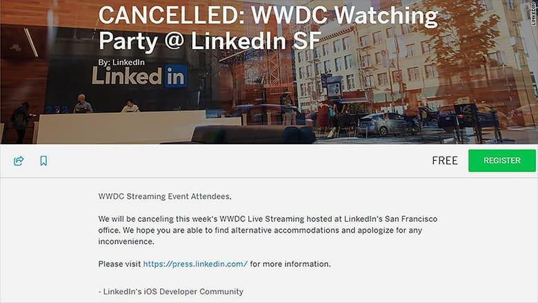Ciol Linkedin WWDC Viewing cancelled