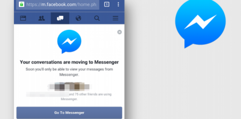 Facebook command: Download a separate app for messenger