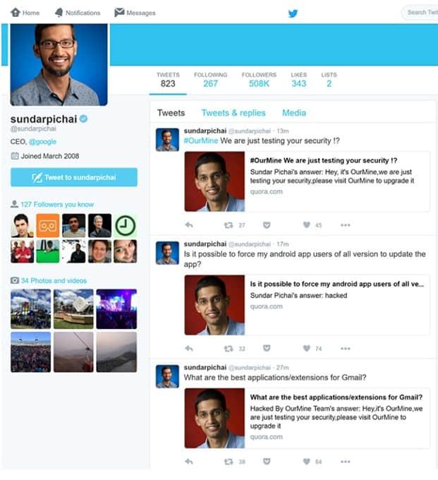 Sundar Pichai's Quora account hacked! - CIOL