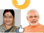 Sushma Swaraj, PM Modi are most followed world leaders on Twitter