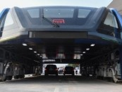 China builds an elevated bus that travels above traffic