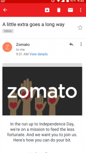 zomato social media page independence day