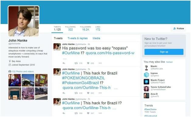 CIOLPokemon Go creator Niantic's CEO is OurMine's latest victim