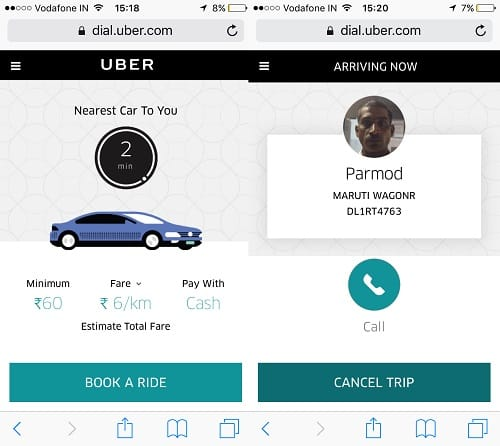 CIOL Now book an Uber with a Web-app