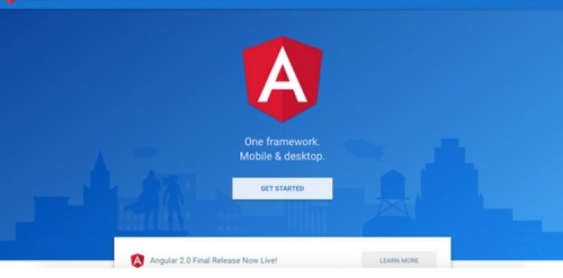 Google Angular 2.0 final release version now live