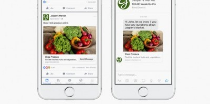 Facebook Messenger version 1.3 enables advertisers to send messages directly to users