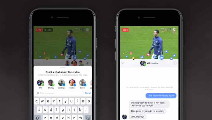 CIOL Facebook introduces private chat & an option to live stream with friends