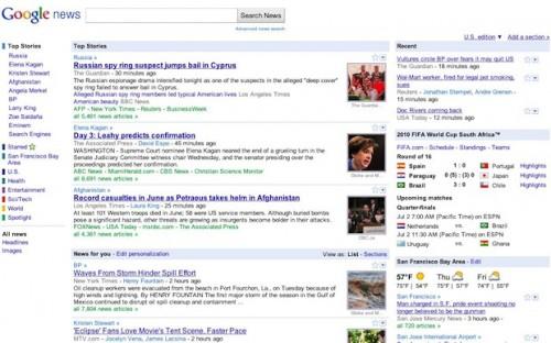 Old google news  look