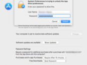 macOS App Store system preferences can be unlocked by any password