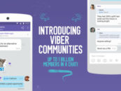 Viber launches Viber Communities, a chat space with unlimited members