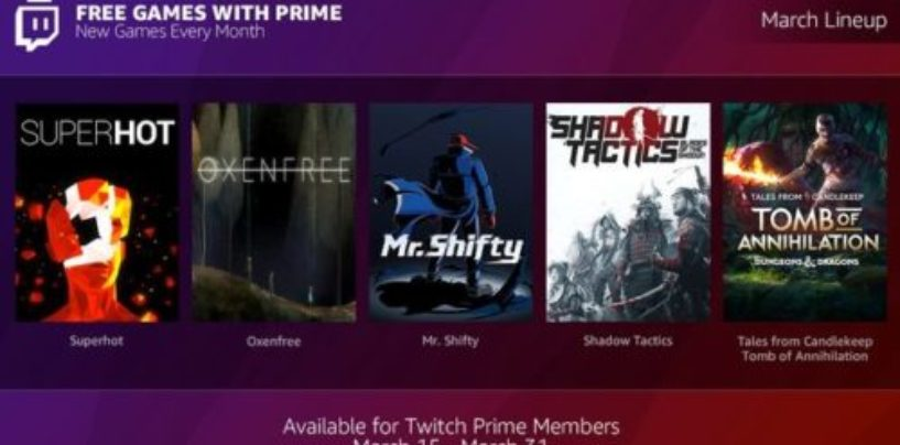 Twitch is giving away free games to Prime subscribers