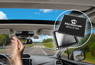 Microchip Technology Introduces Automotive-Qualified 3D Gesture Recognition Controller