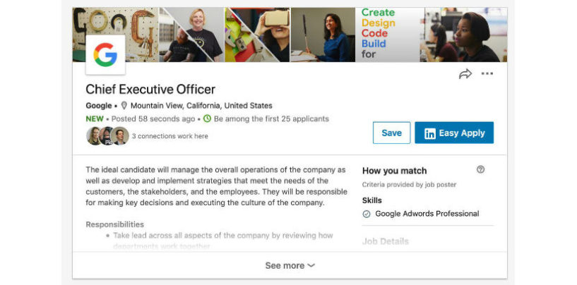 Google's CEO job opening on LinkedIn: Is Sundar Pichai Planning to move out?