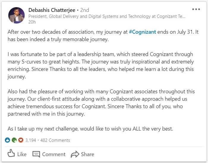 Debashis Chatterjee on LinkedIn