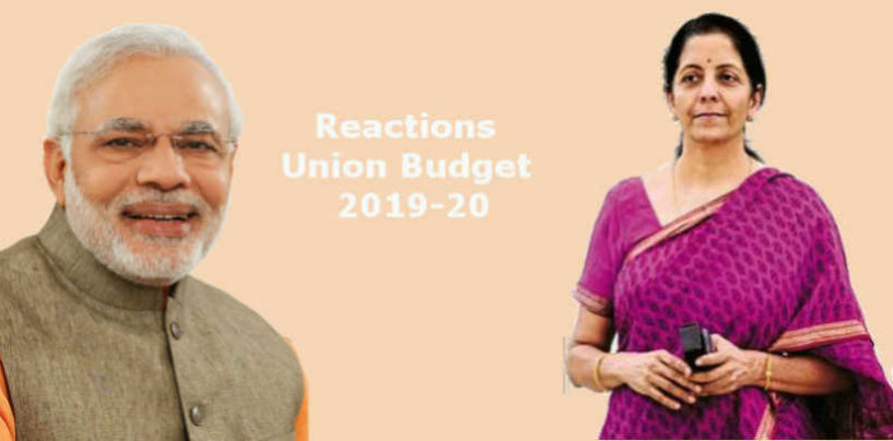 Reactions of Industry Leaders to Union Budget 2019-20