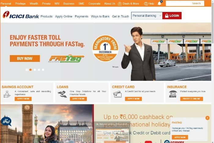 Buy FASTag from ICICI Bank