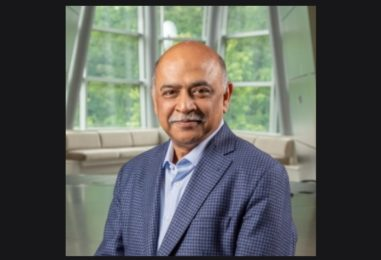 Arvind Krishna as the new CEO of IBM announces several leadership changes in a letter on his first day