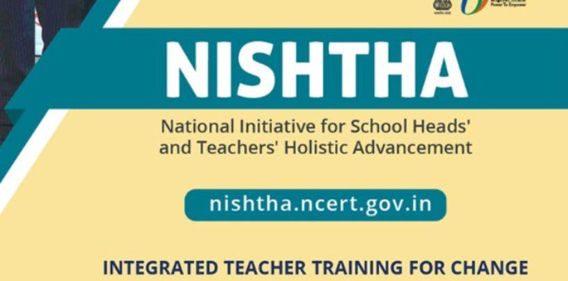 Govt of India promotes NISHTHA platform for training teachers during lockdown