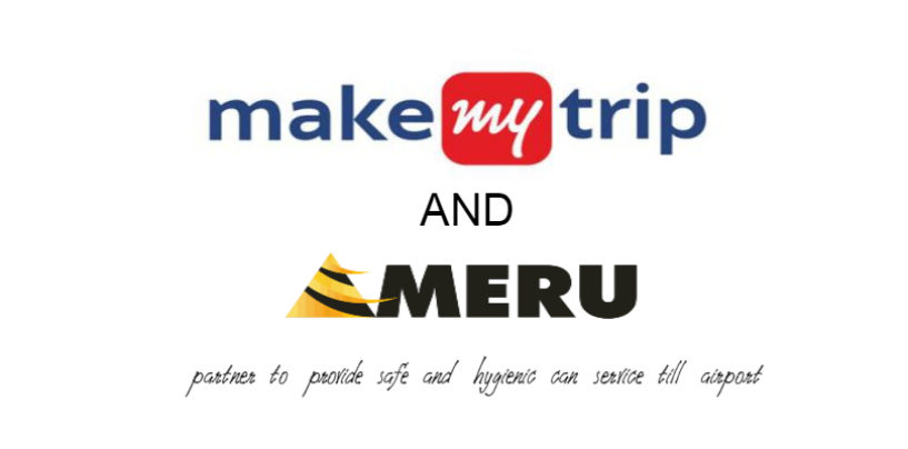 MakeMyTrip and Meru partner to offer ultra-sanitized airport cab service for safe & seamless travel