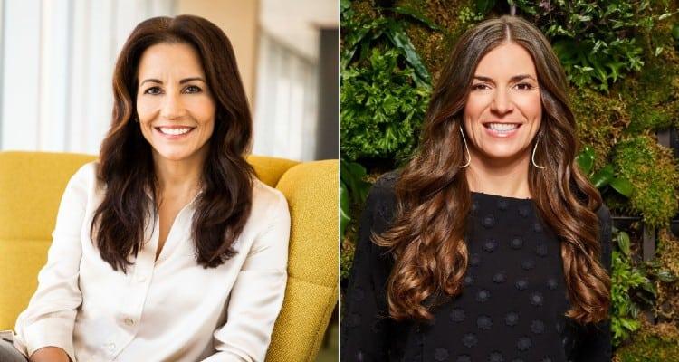 (L-R) Stephanie Buscemi and Sarah Franklin, Salesforce